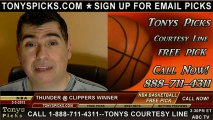 LA Clippers versus Oklahoma City Thunder Pick Prediction NBA Pro Basketball Odds Preview 3-3-2013