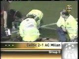 2007 (October 3) Celtic Glasgow (Scotland) 2-AC Milan (Italy) 1 (Champions League)