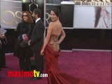 Olivia Munn Oscars 2013 Fashion Arrivals