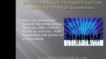 Internet Marketing for Small Business - Lead Generation Tips
