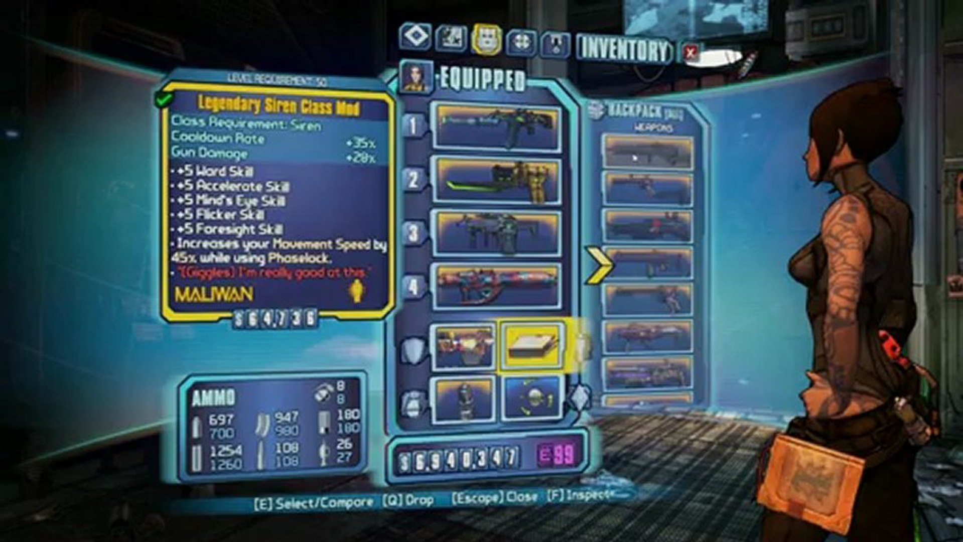BORDERLANDS 2 | My Siren Build!!!