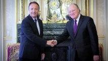 [Reportage] Le Président du Sénat reçoit Mustapha Ben Jaafar, le Président de l'Assemblée nationale constituante de Tunisie