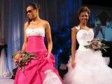 Robes de mariées MISS en fushia et blanc et VENUS pour Hervé Mariage Angers