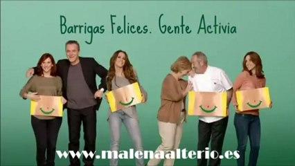 """Malena Alterio en la campaña """"Barrigas felices"""" de Activia"""