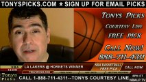 New Orleans Hornets versus LA Lakers Pick Prediction NBA Pro Basketball Odds Preview 3-6-2013