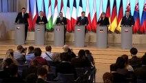 Conférence de presse lors de la rencontre des chefs d'Etats et de gouvernement des Etats membres du groupe de Visegrad, de la France et de l'Allemagne