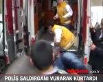 Polis, saldırganı vurarak rehineyi kurtardı