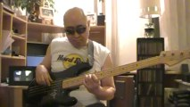 Parisienne Walkways Garry Moore Live solo bass cover Bob Roha