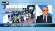 Culture Geek : du billard à laser au canapé distributeur de bière, les geeks se facilitent la vie - 08/03