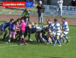 Rugby Fédérale 1 Poule 4 LOURDES OLORON samedi 3 mars 2013 rugby montagne cuir beguere antoine