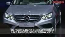Mercedes-Benz E-Class Berlina Live Geneva Motor Show 2013