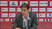Conférence de presse Valenciennes FC - LOSC Lille : Daniel  SANCHEZ (VAFC) - Rudi GARCIA (LOSC) - saison 2012/2013