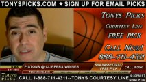 LA Clippers versus Detroit Pistons Pick Prediction NBA Pro Basketball Odds Preview 3-10-2013
