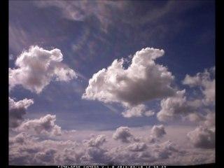 Timelapse du ciel de cumulus jusqu'à l'averse le 10/03/2013