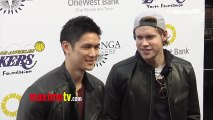 Harry Shum Jr & Chord Overstreet Lakers Casino Night After Lakers-Bull Game March 10, 2013