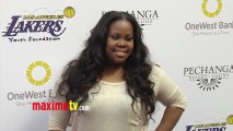 Amber Riley GLEE Lakers Casino Night After Lakers-Bull Game March 10, 2013
