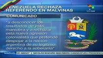 Venezuela rechaza referendo en islas Malvinas