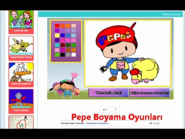 Pepe Boyama Oyunlari Www Boyamaoyunlari Gen Tr Dailymotion Video