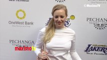 Wendi McLendon-Covey Lakers Casino Night After Lakers-Bull Game March 10, 2013