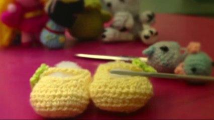 Cómo hacer unos patucos de ganchillo.Vídeo 2