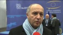 Syrie - Interview de Laurent Fabius (Conseil Affaires étrangères, Bruxelles - 11.03.2013)