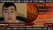Miami Heat versus Atlanta Hawks Pick Prediction NBA Pro Basketball Odds Preview 3-12-2013
