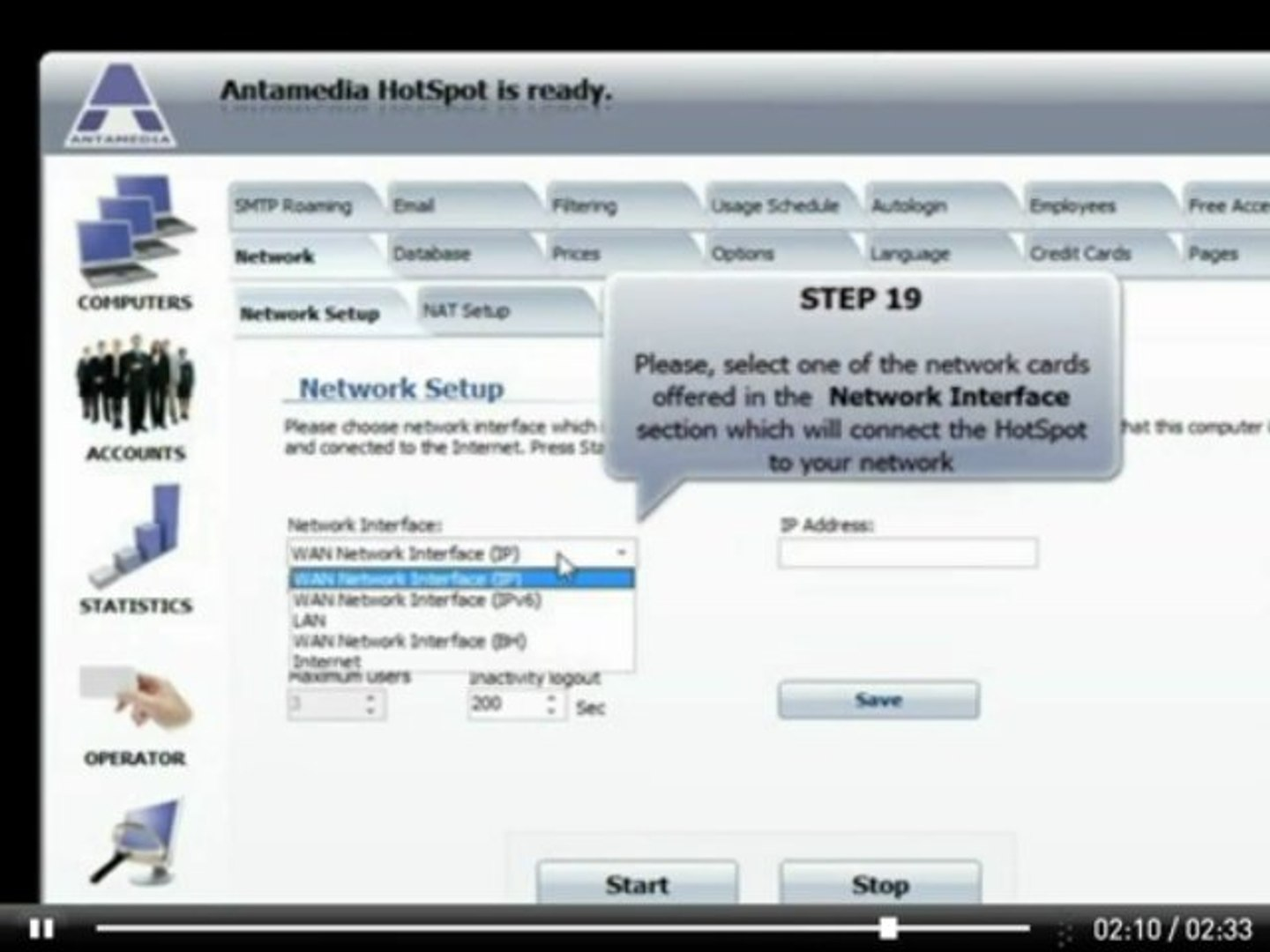 how you can enable windows internet connection sharing with Antamedia  hotspot Software