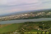 petit vol d'altitude au dessus du parc de miribel jonage