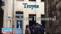 incendie rue Brunneval à Troyes