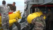 Projection stratégique des chasseurs de mines  Sagittaire et Pégase par navire affrété