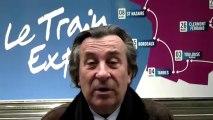 G. Métral (Pdt. CCI Haute Savoie) lors du lancement du train de l'innovation et de l'industrie - CCI France