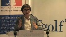 """Charte """"Golf et Environnement"""" - Discours de Valérie Fourneyron"""