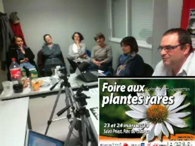 Webtv de la Carnière : autour de la foire aux plantes rares