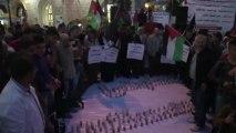 Des Palestiniens manifestent contre la visite de Barack Obama