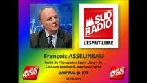 """François Asselineau: Projet de Loi FIORASO & Francophonie dans Le """" 18-20 de Sud Radio """""""