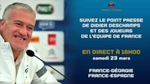 Conférence de presse de l'Equipe de France