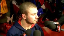 Josh Gorges aftert loss to Leafs, March3, 2012