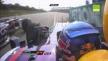 Formule 1 Malaisie 2013 Vettel dépasse Webber et Webber fait un doigt d'honneur!