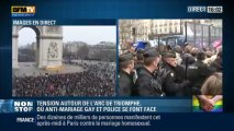 Protest urias (1,4 mil) in Franta impotriva casatoriilor dintre homosexuali