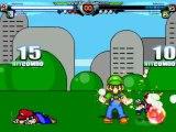 MUGEN: Super Mario and Luigi vs Pocket Mario and Luigi