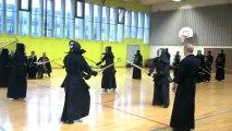 Passage de grade à Lyon - Mars 2013 : 2ème Geiko avec motodachi Vincent