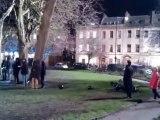 Enregistrement de la saison 3 de Sherlock à Portland Square (Bristol) le 25 mars 2013