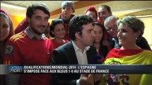 France - Espagne / Les supporters espagnols heureux à la maison de l'Espagne de Toulouse - 26/03
