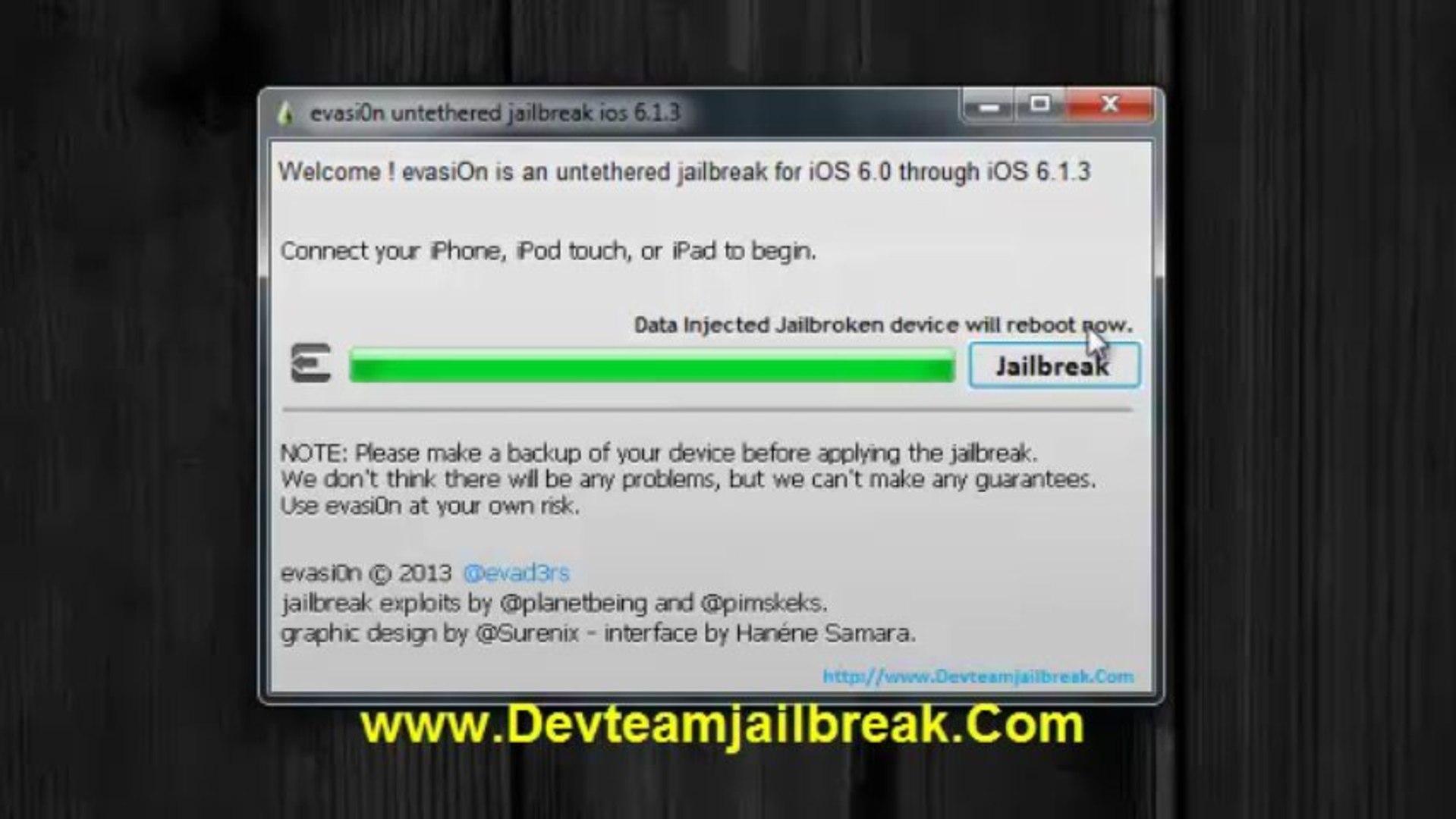 evasion jailbreak 6.1.3 iphone 4