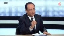 """François Hollande : """"Je suis président de la République depuis dix mois, pas depuis dix ans"""""""