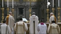 Pope presides over Easter Eve vigil in Rome