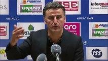Conférence de presse ESTAC Troyes - AS Saint-Etienne : Jean-Marc FURLAN (ESTAC) - Christophe  GALTIER (ASSE) - saison 2012/2013