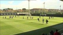 Xavi, Jordi Alba y Tito Vilanova, preparados para París