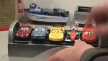 Pixar Cars 2 Spy Train, Stephenson the Car Holder with Missile Shooter. ..cool