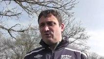 Coupe du Maine Château du Loir - Sablé FC: réaction de l'entraineur de Sablé Marc Sanchez